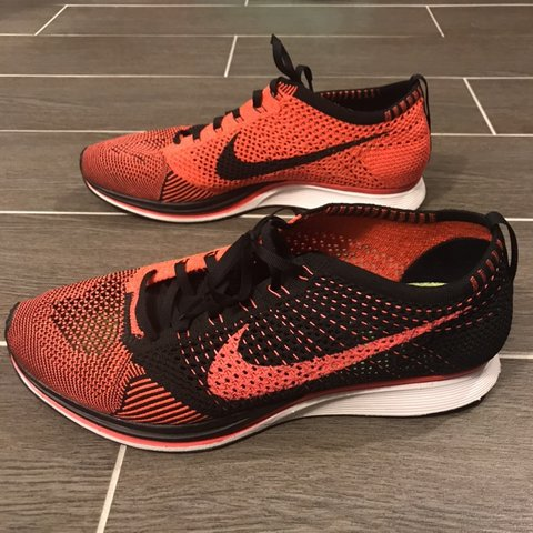 low priced 74f6f b1304  urbanamy. 12 days ago. Chantilly, United States. Nike Flyknit Racer Black  Red.