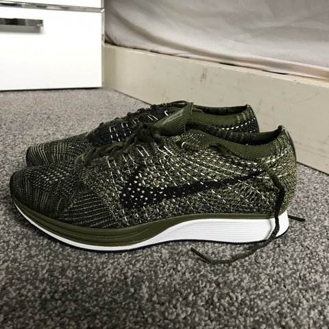 5d225350a39b2 @mjacol. 2 years ago. Middleton, United Kingdom. Nike flyknit racer UK 5.5 rough  green