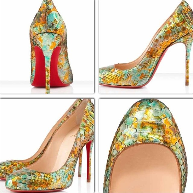 72094a4477a2 Christian Louboutin multicolor material python