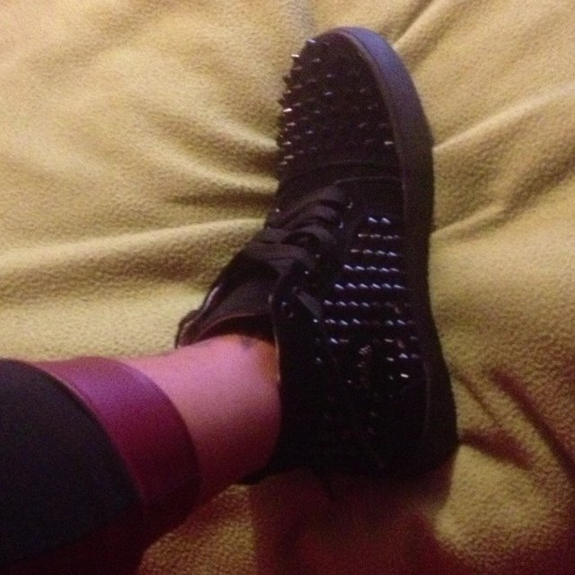 d9c841abf410 Black Christian louboutin sneakers