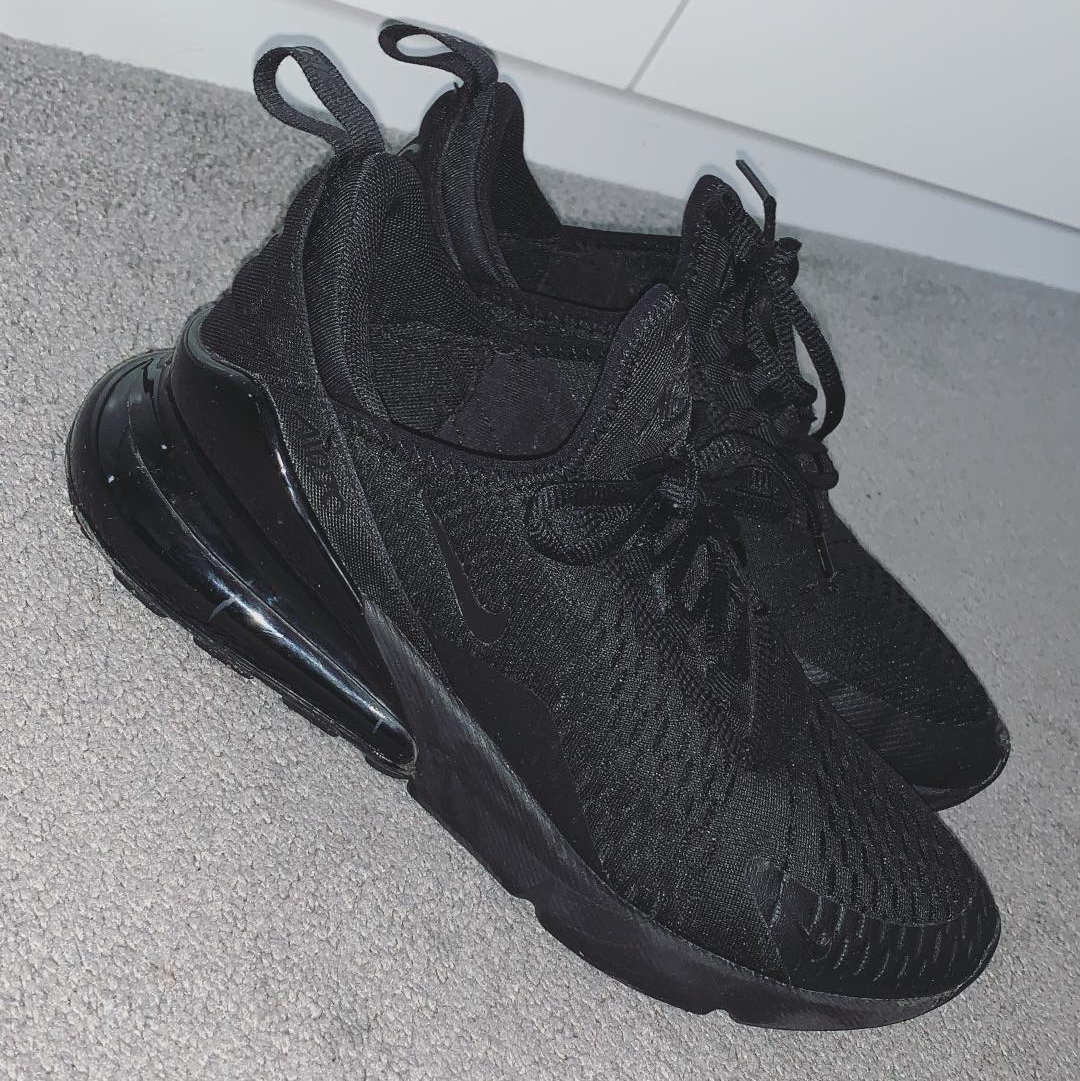 big sale ca275 da0f2 All black nike 270s - size 6 Message me for info - Depop