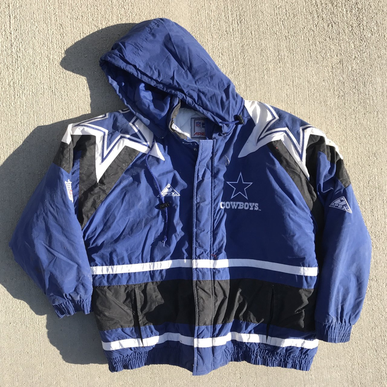 Vintage apex one Dallas Cowboys jacket sz XL  vintage  90s - Depop 381fc52aa