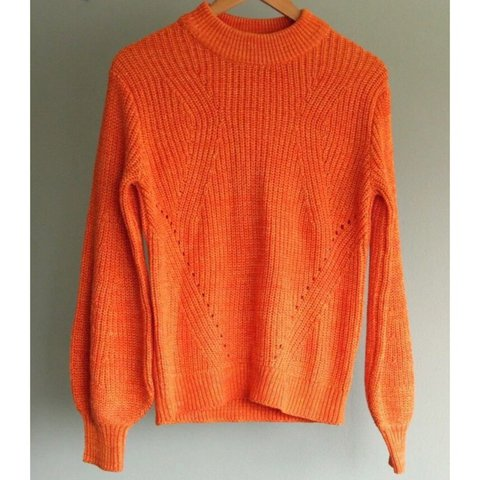 8b63c68cd2fa49 @cherylmounts. 3 months ago. Long Beach, United States. Women's Orange H&M  Chunky Knit Sweater/Jumper ...