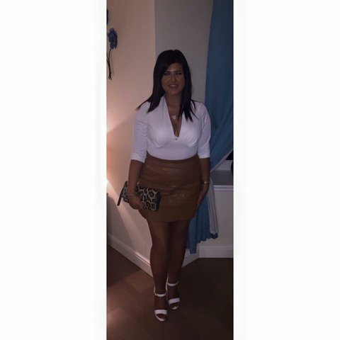 abaa05fee2ee64 Tanned brown leather skirt from new look. Size #newlook #buy - Depop
