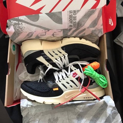 079c642e88a Off White x Nike prestos🔥 Part of  The 10   Most hyped of - Depop