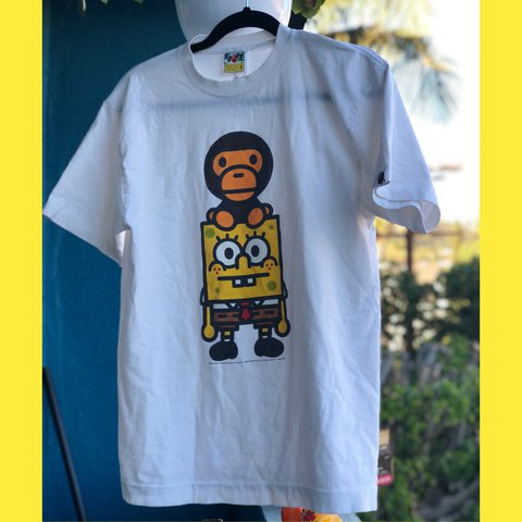 6c13a62b @thelavintagethrifter. last year. Los Angeles, United States. Super Rare  2008 Bathing Ape x Spongebob Collab The collection came out ...