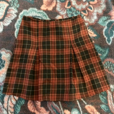 56448887a @trudykinkle. 18 days ago. Napa, United States. Brandy Melville cute plaid  school girl pleated skirt!!!