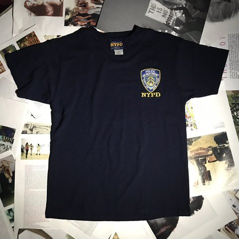 8e764c6be New York Police Department🐷 nypd tee. official embroidered - Depop