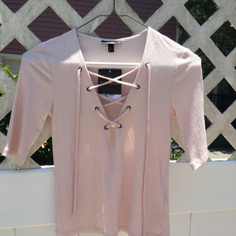a1c60f6d7b  bellamk. 5 months ago. United States. topshop lace up ribbed top in pale  pink. ...