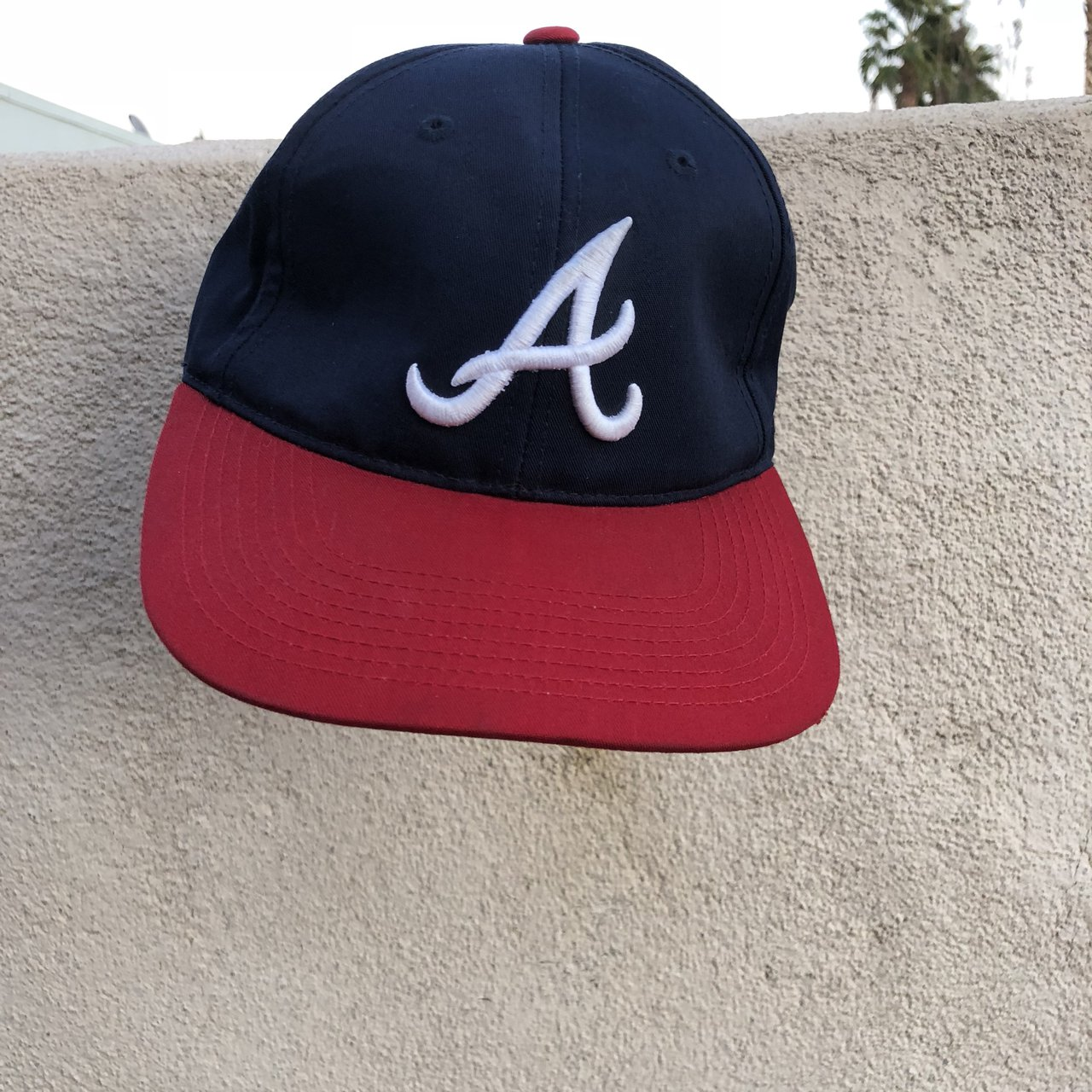100% authentic mlb Velcro strap hat 🧢 -Navy blue with Red - Depop 103882a07