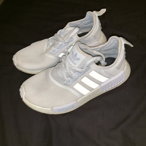 75a879c0b309e Adidas triple white NMD runners size 8 selling cause to off - Depop