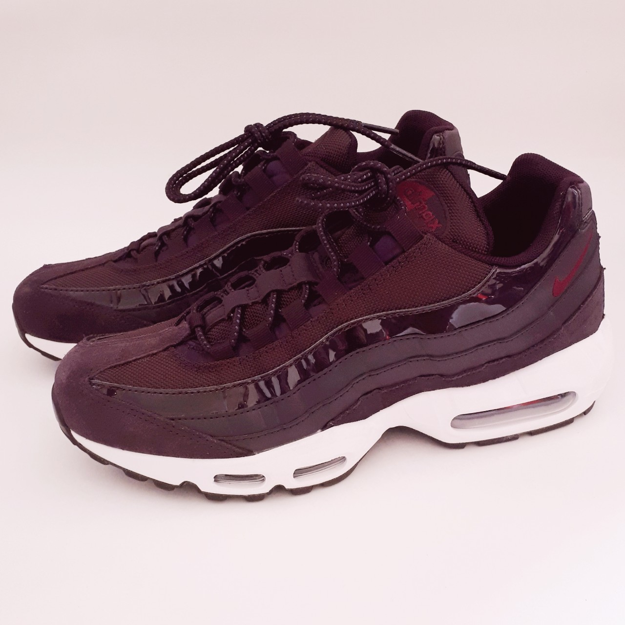 Wmns Nike Air Max 95 Port Wine Bordeaux White. Size
