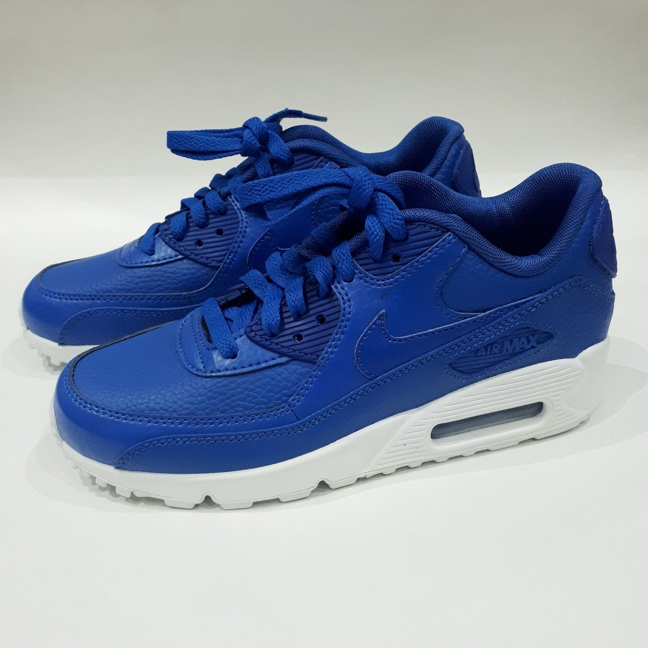 Royal Blue White Nike Air Max 90 LTR (GS). Size 5.5y UK 5. - Depop 3c1852eda542a