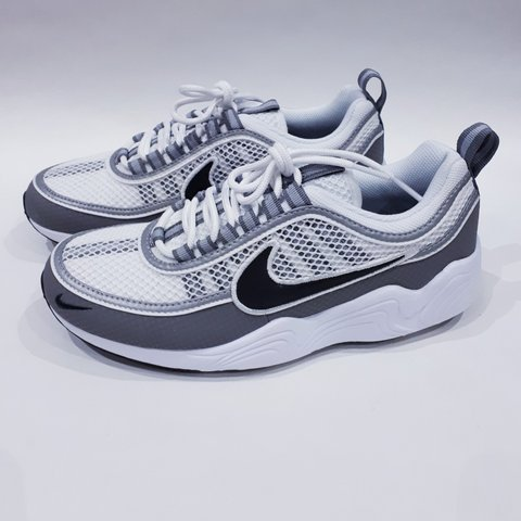 7864a06bc0d53 White Black Light Ash Nike Air Zoom Spiridon. Size UK 5.5