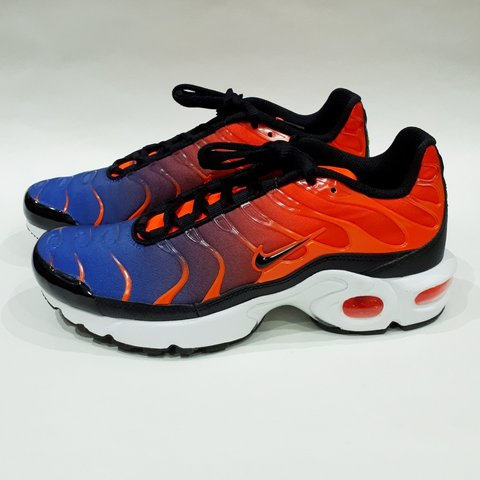 cbbc18308e Total Crimson/Black-Racer Blue-White Nike Air Max Plus TN SE - Depop