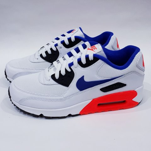 premium selection 2c202 b69a6 White Solar Red Black Ultramarine Nike Air Max 90 UK 8, EUR