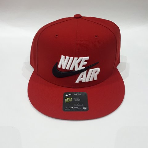 d3d4348f8af Red Black White Nike U NK Air True Cap Classic One New with - Depop