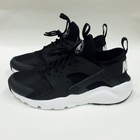 c5e8ccb12e68d Black White Nike Air Huarache Run Ultra GS Older Kids Size - Depop