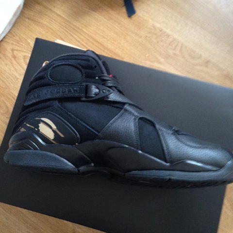 696f729809be IN HAND Message me price is negotiable OVO Jordan 8 Black - Depop
