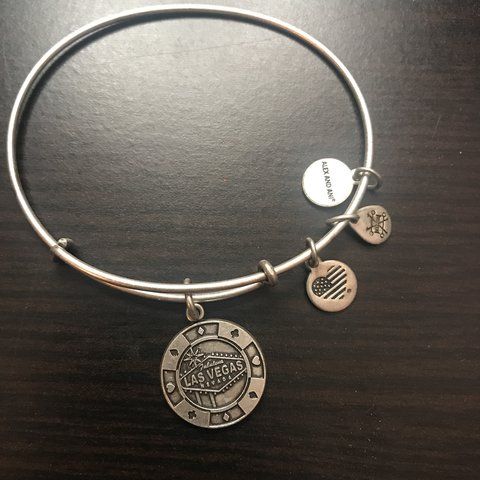 Alex And Ani Las Vegas Bracelet In Silver Retailed For At Depop