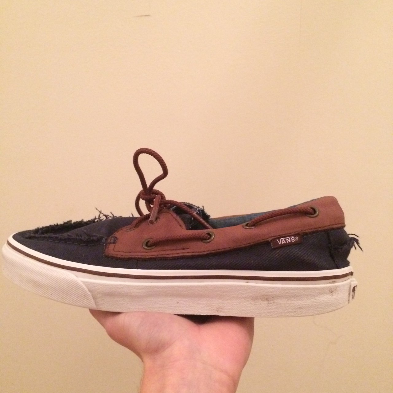 8 Uk Del Navy Blue Boat Depop Zapato Size Of Shoes Vans Barco ng1RX0