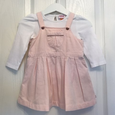f24bf4a7 @scruffydollboutique. 3 months ago. Chesterfield, United Kingdom. Baby girl  Ted Baker pink pinafore dungaree corduroy dress ...
