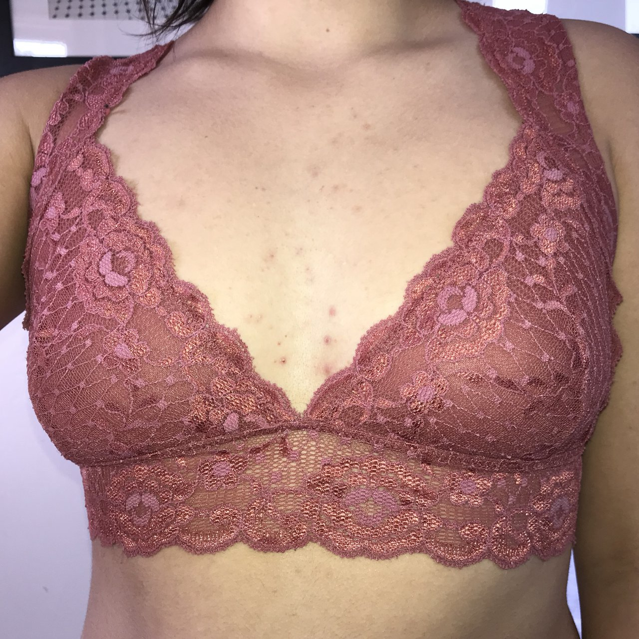 561917c10a Super cute intricate blush pink Free People bralette. Could - Depop