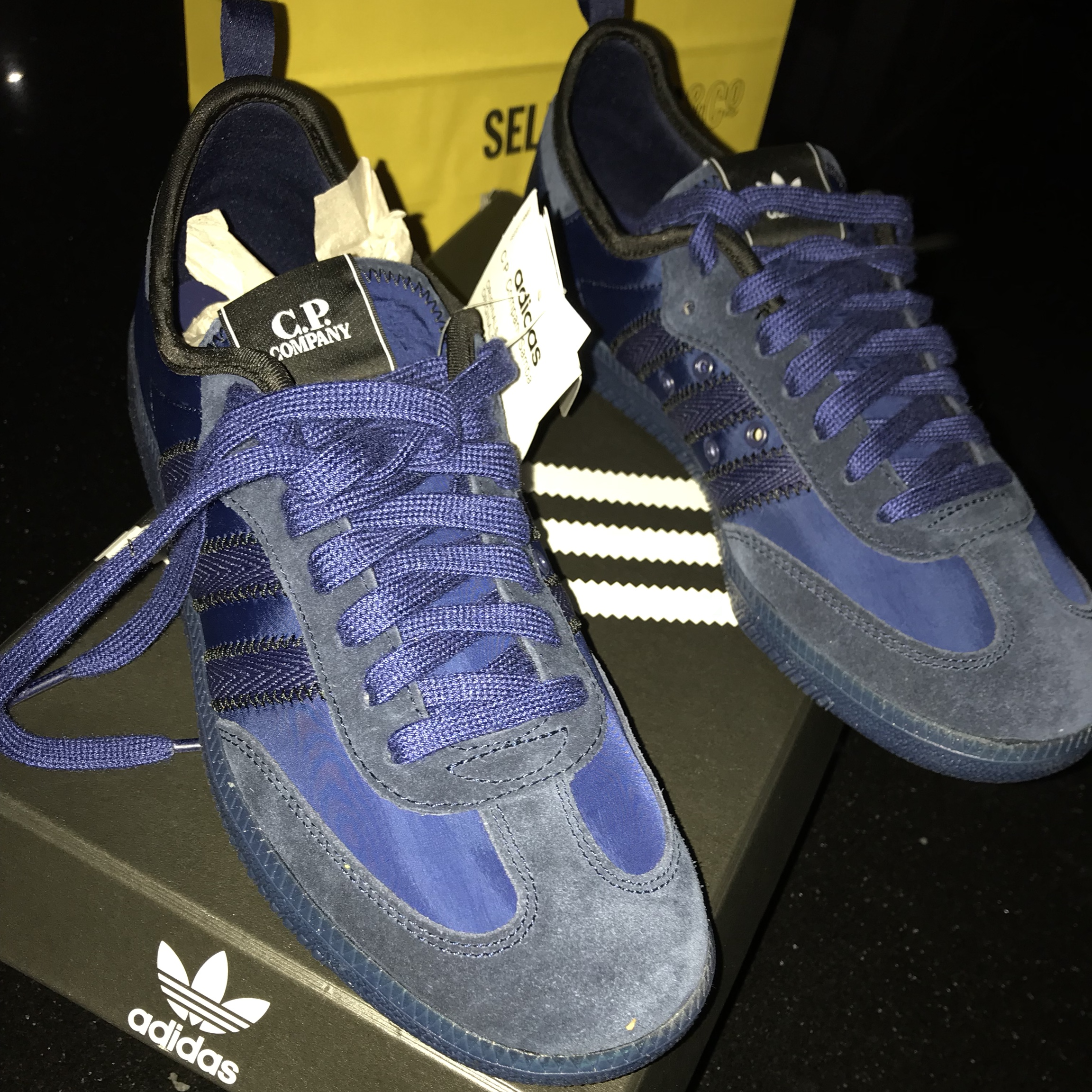 huge selection of 069bf a8186 Adidas CP Company Samba Navy Blue Size 7 UK /... - Depop