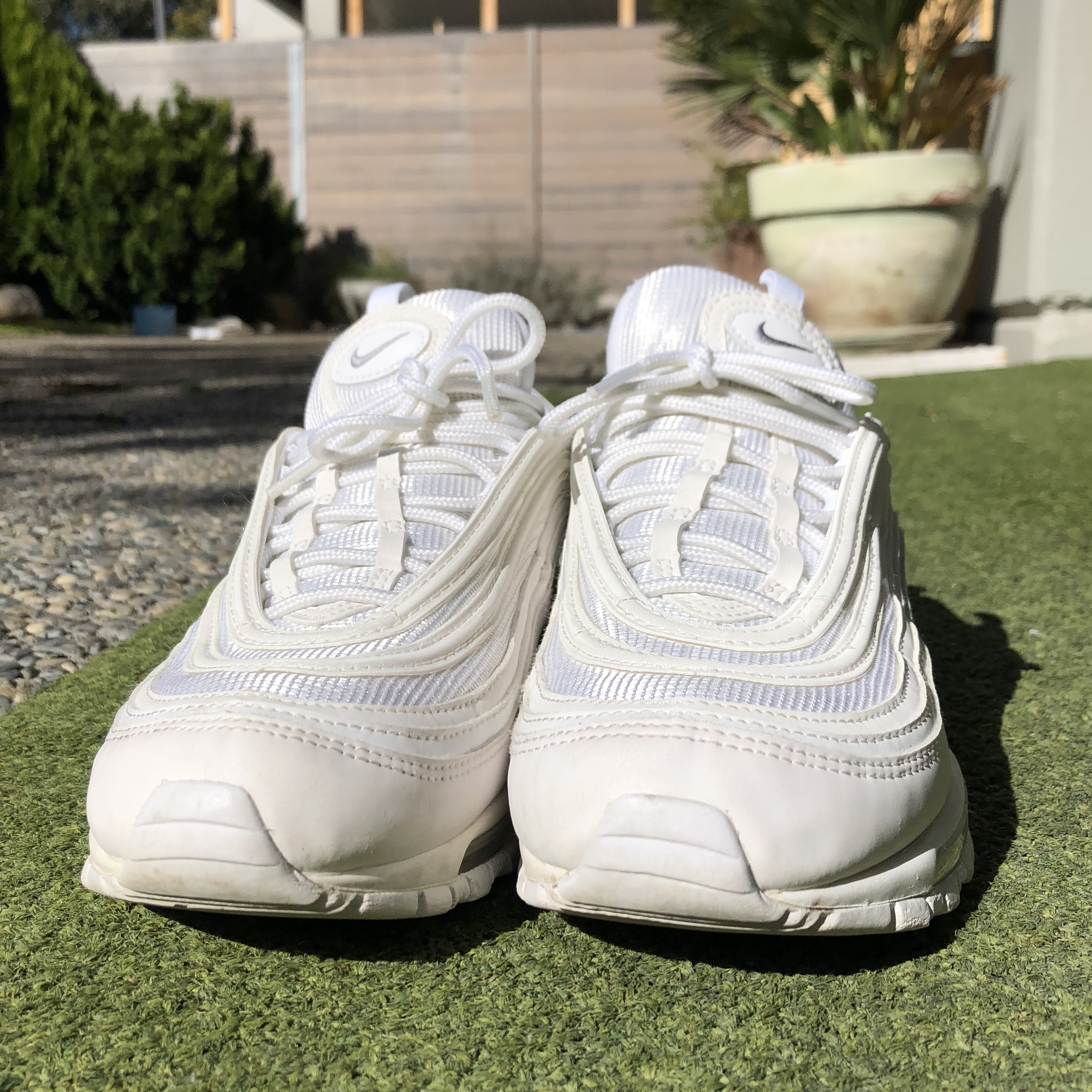 oben Nike Air Max 97 OG's White very good condition Depop zu