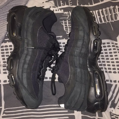 b261bef422c87a Nike Air max 95 triple black Women s size 6 Rrp 125 These a - Depop