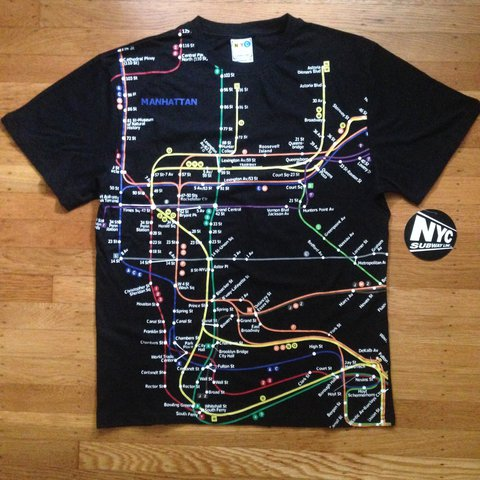 Nyc Subway Map T Shirt.Listed On Depop By Sbmutz