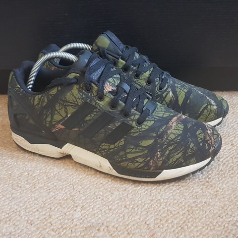 huge discount 87fbc 129ac Adidas ZX Flux  Forest  These one were of the hardest ZX 5 - Depop