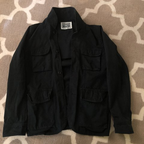 410a5c203048 CONVERSE ONE STAR NIGHT JACKET (BLACK) SIZE SMALL FAST - Depop