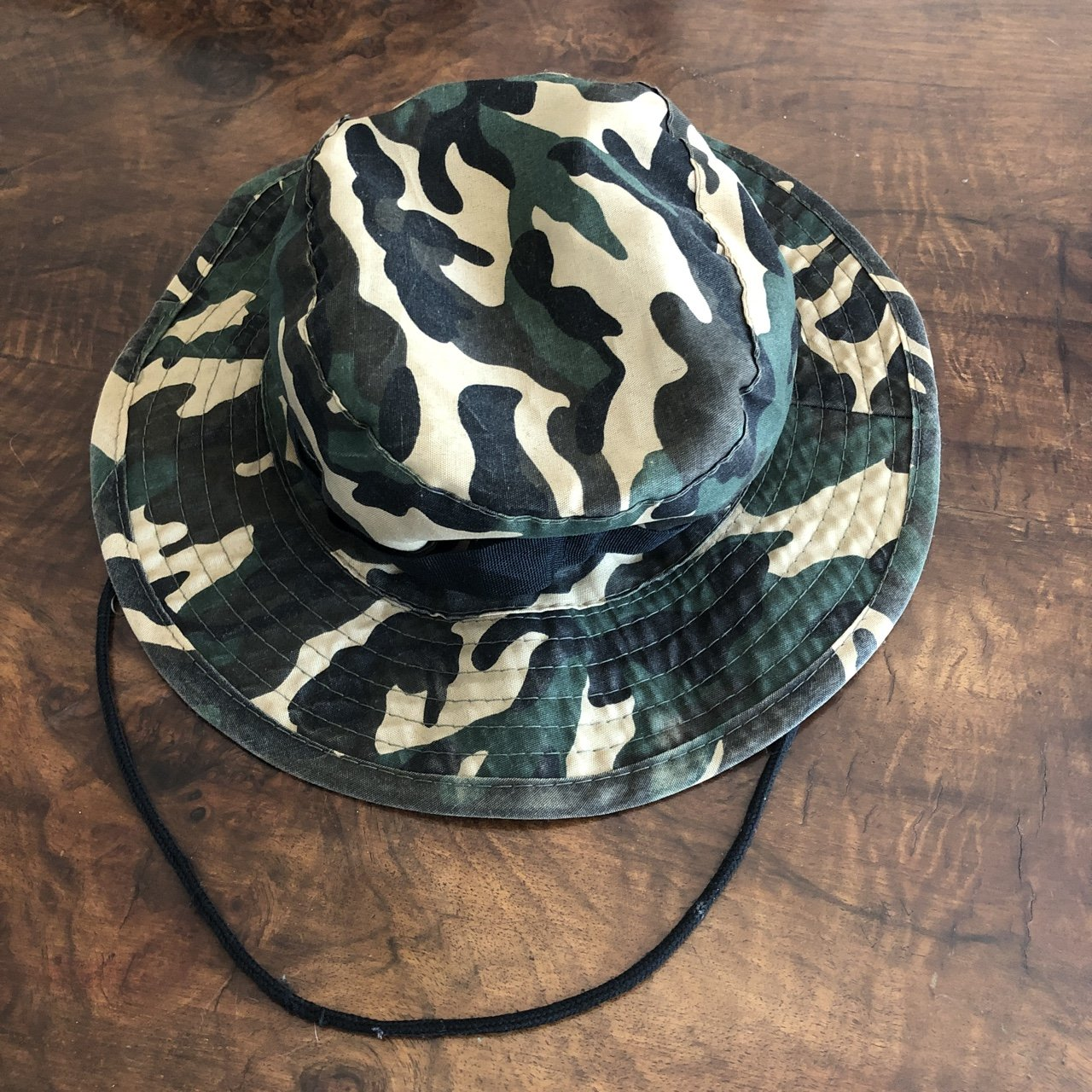 CAMO BUCKET HAT WITH DRAWSTRING US BUYERS ONLY SHIPS OUT - Depop ff0882dd060