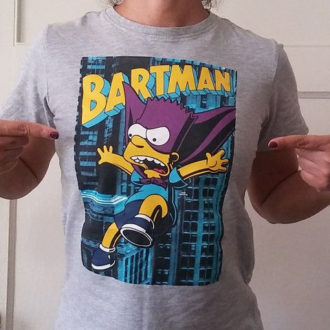 64b0ace14 @devaeva. last year. Los Angeles, Los Angeles County, United States. Bartman  graphic tee. Comfy 90s themed Bart Simpson grey ...