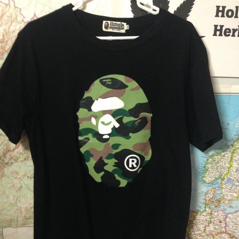 9264ee00a REAL BAPE W GOLD TAG T-SHIRT FREE SHIPPING Size XXL bc it's - Depop