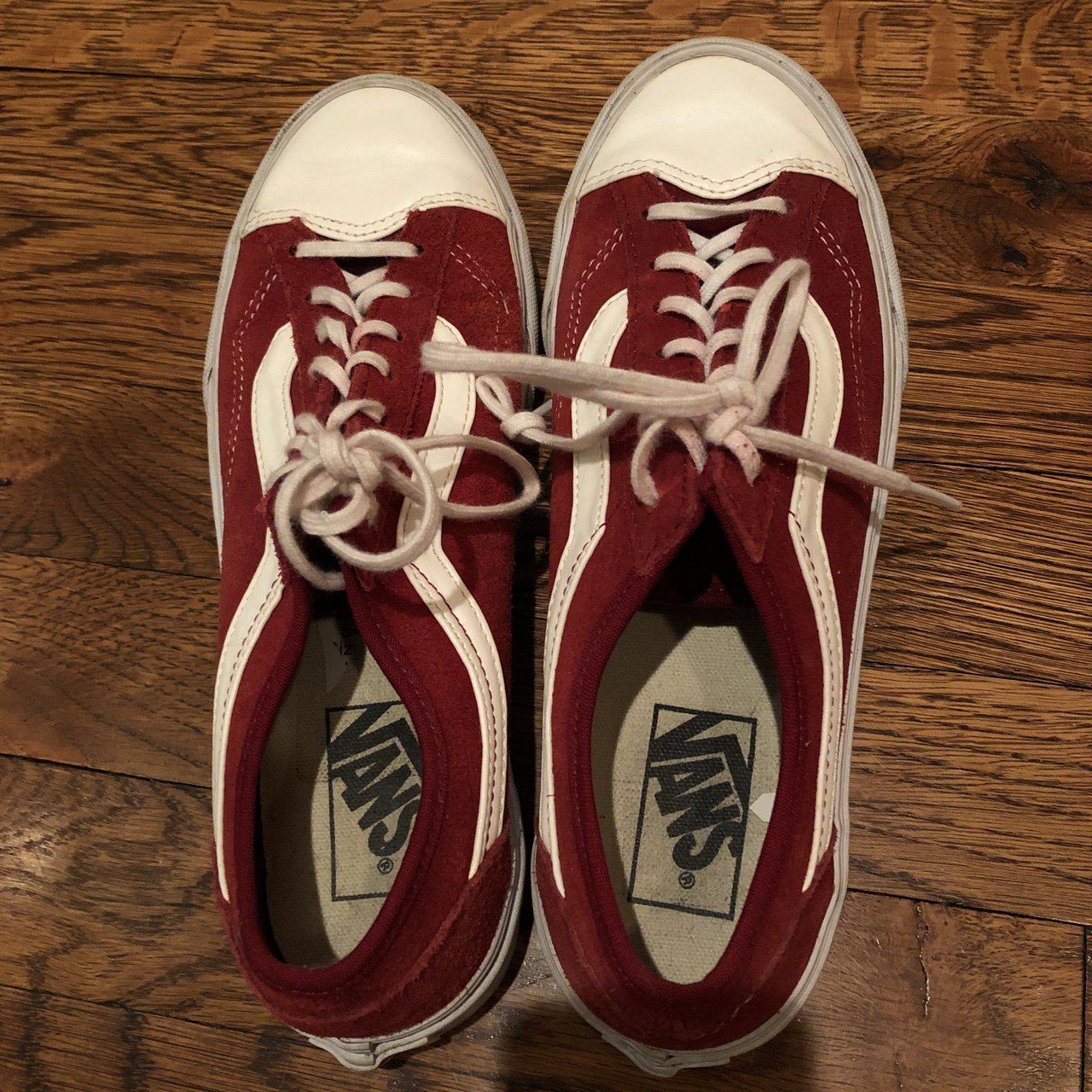 38a2dc33055d Red Vans size 8 sneakers! I only wore them a few times and a - Depop