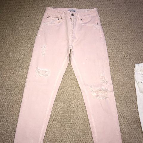 12ce8589 Zara pink jeans - Never worn. 28 inch waist & 10 inches from - Depop