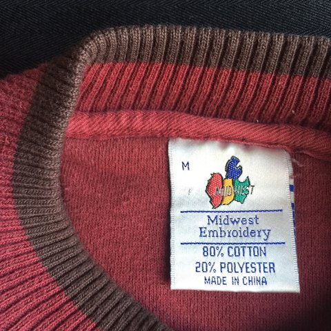 Midwest Embroidery Indiana University Sweater Tag Size As In Depop