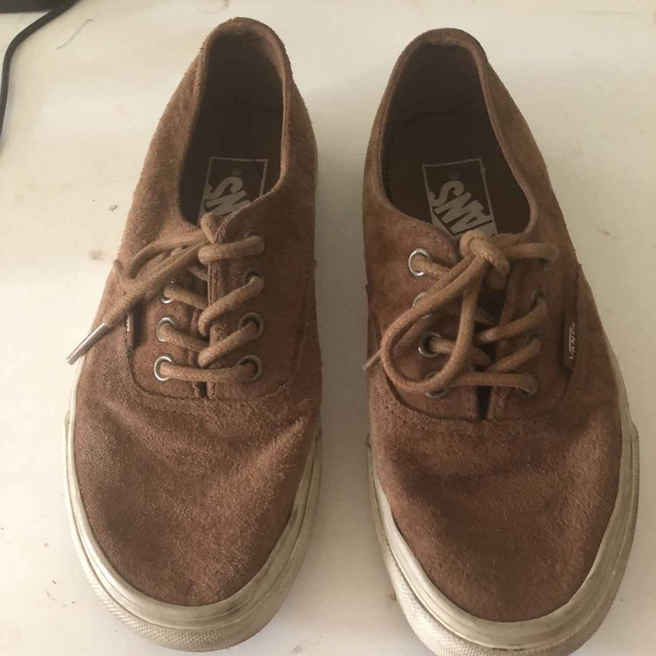 9d25020ab059 Brown suede vans! Used a couple of times but still in great - Depop