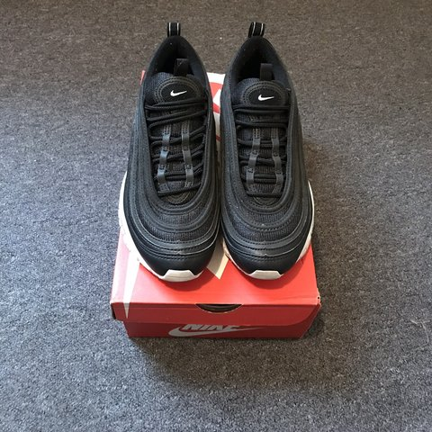3efea1e53954 Nike Air Max 97 - Black with White sole Size UK 4 Only a - - Depop
