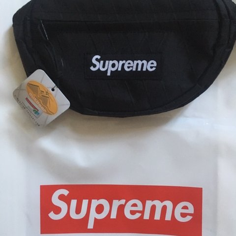 c825a130389 Supreme Black Waist Bag Brand new One of the most hyped   - Depop