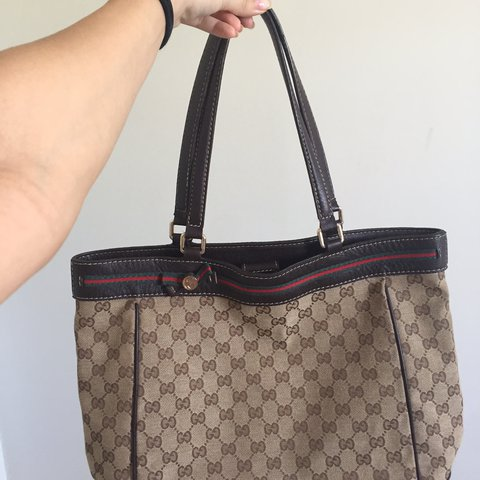 1a24e0a820c Gucci bag... some stains on the inside but the bag is in and - Depop