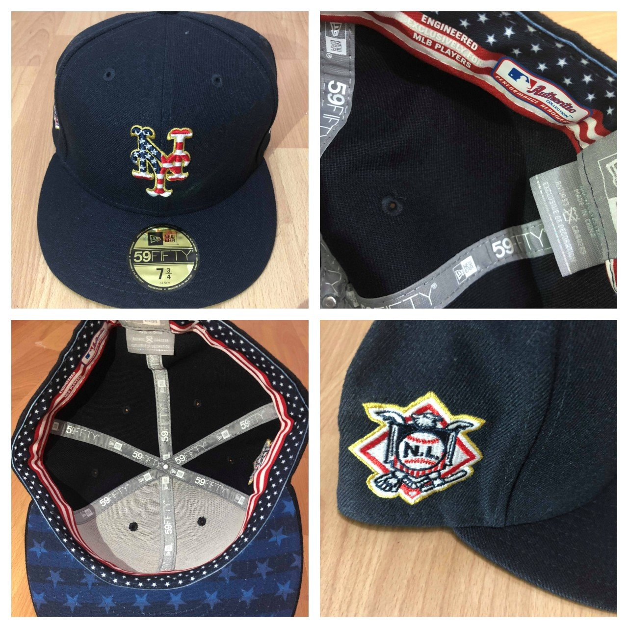 New era New York Mets July 4th Fitted cap Hat size 7 3 4 red - Depop a2ea0309d8f8