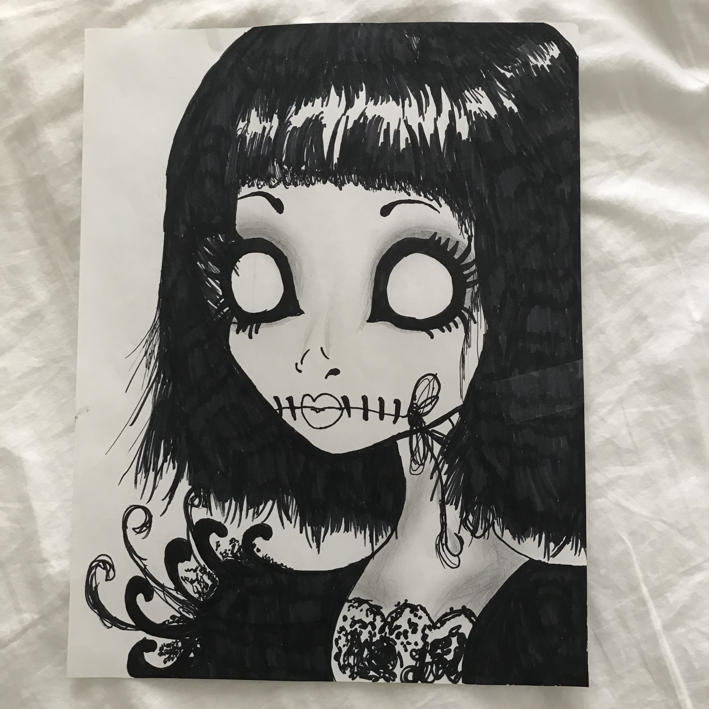 Newest For Cartoon Creepy Doll Drawing | Simple Day Book