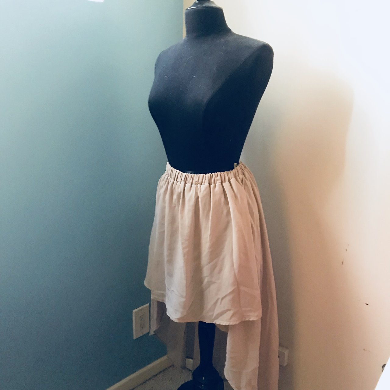 L ATISTE BY AMY high low tan silky skirt!! (With SMALL - Depop a3a05e48e