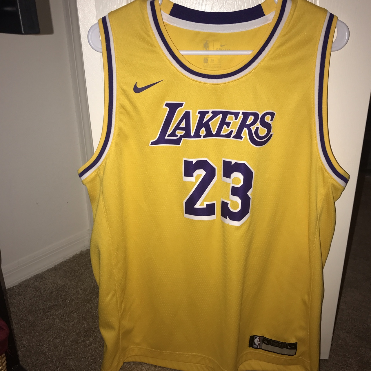 low priced 76cad 19434 100% authentic Lebron James Lakers Jersey🔥 Youth... - Depop