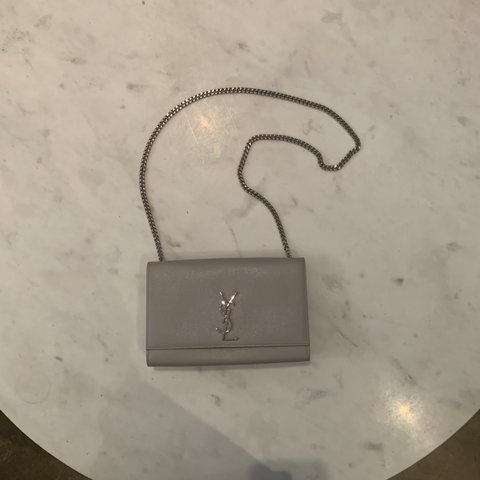 e91e054d2e6c YSL Monogram Kate Medium Chain Bag in Grey YSL 100% with be - Depop