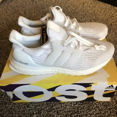 1d51df0909d Adidas Ultra Boost 3.0 - Triple White - Men s Size Size on - Depop