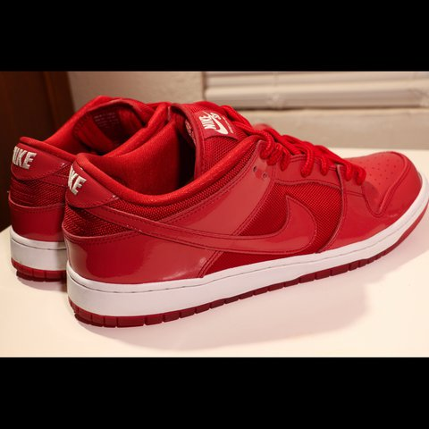 outlet store 99a45 ea0ba ... get nike sb dunk low red patent leather sz. 13 very good with depop  be688